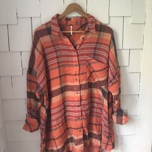 Free People cotton flannel